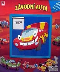 Závodní auta - Říkanky s puzzle a hlavolamem