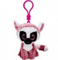 Plyš očka přívěšek růžový lemur