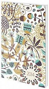 Diář 2014 - týdenní kapesní - Poketto - Floral