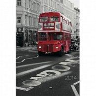 Diář 2014 - Londýn Jakub Kasl - Týdenní magnetický (ANG, NĚM, FRA, ITA, ŠPA, HOL)