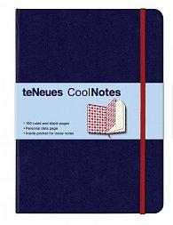 Zápisník CoolNotes Dark Blue/Argyle Red velký