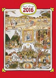 Kalendář nástěnný 2016 - Josef Lada - měsíce,  33 x 46 cm