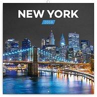 Kalendář poznámkový 2018 - New York – Jakub Kasl, 30 x 30 cm