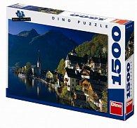 Vesnička u jezera - puzzle 1500 dílků