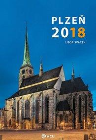 Kalendář nástěnný 2018 - Plzeň/střední formát