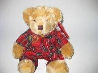 18cm Baxter Bear w/Tartan