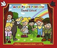 Moje první písničky 1 - české lidové/knížka + omalovánky + DVD