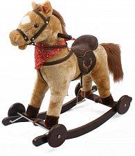Houpací kůň - závodní s kolečky, pohyblivý ocas