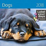 Kalendář nástěnný 2018 - Dogs
