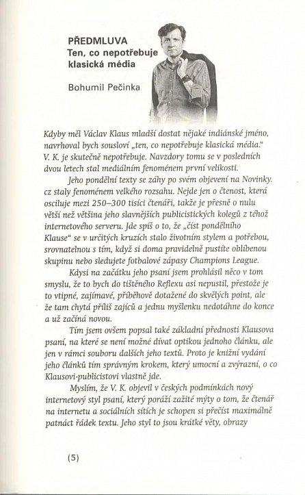 Náhled Pondělní komentáře 2 aneb Braňme normální svět s předmluvou Bohumila Pečinky