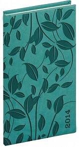 Diář 2014 -Tucson-Vivella speciál - Kapesní, tyrkysová, lístky (ČES, SLO, ANG, NĚM)