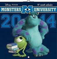 Kalendář 2014 - W. Disney Univerzita pro příšerky - nástěnný poznámkový (ČES, SLO, MAĎ, ANG)