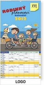Kalendář nástěnný 2012 - Rodinný plánovací XXL, 33 x 64 cm