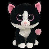 plyš očka střední kočka černobílá