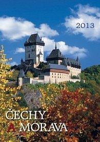 Čechy a Morava - nástěnný kalendář 2013