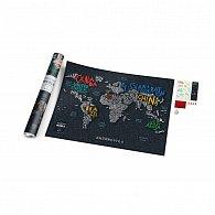 Stírací mapa světa Travel Map Letters World