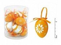 Vajíčka plast 6cm/12ks mix oranžové S34180O