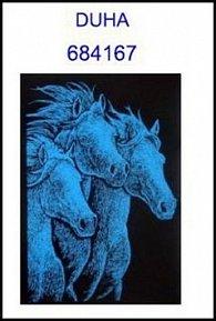 Škrabací obrázek A5 koně DUHA