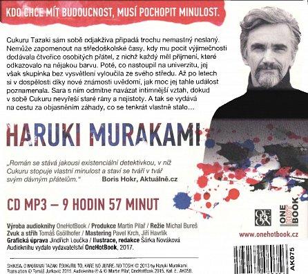 Náhled Bezbarvý Cukuru Tazaki a jeho léta putování - CDmp3 (Čte Martin Myšička)