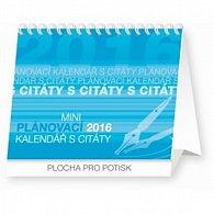 Kalendář stolní 2016 - Plánovací s citáty Praktik,  16,5 x 13 cm