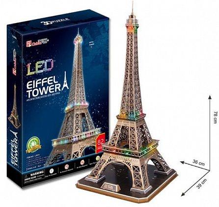 Náhled Puzzle 3D Eiffelova věž / led - 82 dílků