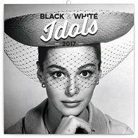 Kalendář poznámkový 2017 - Black & White Idols