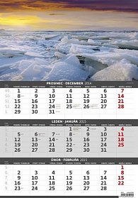 Kalendář nástěnný 2015 - Čtyři roční obchobí - 3měsíční