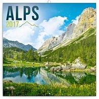 Kalendář poznámkový 2017 - Alpy