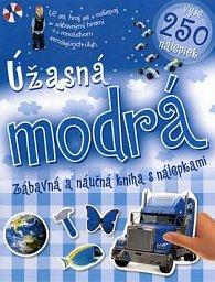 Úžasná modrá zábavná a náučná kniha s nálepkami