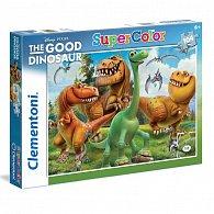 Puzzle Supercolor 104 dílků Hodný dinosaur - dinosauři