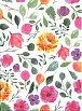 Bloček s lepítky a propiskou: Květiny