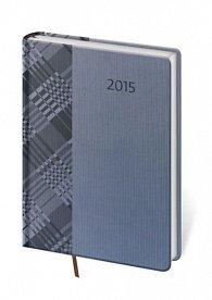 Diář 2015 - GRILLE denní A5 - modrá