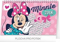 Kalendář stolní 2018 - Minnie, 23,1 x 14,5 cm