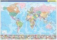 Svět nástěnná politická mapa