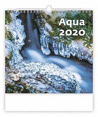 Kalendář nástěnný 2020 - Aqua