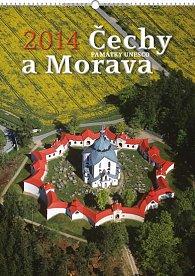 Kalendář 2014 - Čechy a Morava UNESCO Praktik - nástěnný s prodlouženými zády