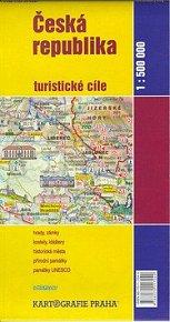 Česká republika turistické cíle 1:500 000