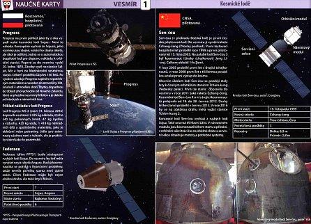 Náhled Kosmické lodě - Naučné karty