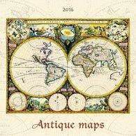 Antique maps 2016 - nástěnný kalendář