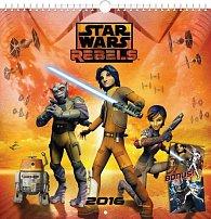 Kalendář nástěnný 2016 - Star Wars Rebels, poznámkový  21 x 21 cm