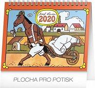 Kalendář stolní 2020 - Josef Lada – Zvířátka, 16,5 × 13 cm