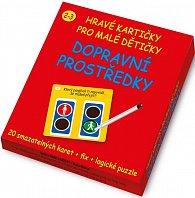 Dopravní prostředky - Hravé kartičky pro malé dětičky 3