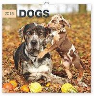 Kalendář 2015 - Psi - nástěnný (GB, DE, FR, IT, ES, NL)