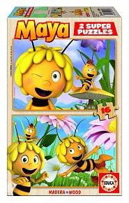 Puzzle dřevěné Včelka Mája 2v1 16 dílků 3D