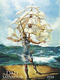 Salvador Dalí - nástěnný kalendář 2014