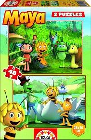 Puzzle Včelka Mája 2v1 48 dílků