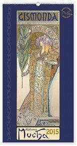 Kalendář 2015 - Alfons Mucha - nástěnný