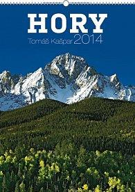 Kalendář 2014 - Hory Tomáš Kašpar Praktik - nástěnný s prodlouženými zády