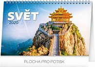 Kalendář stolní 2020 - Svět, 23,1 × 14,5 cm