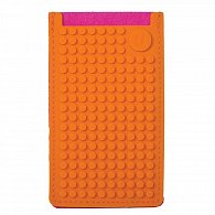 Pixel Obal na telefon Velký Fuchsiová/Oranžová